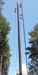 УВНК-10Б надежно работает без заземляющего тросика на ВЛ с деревянными опорами